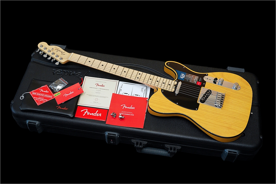 Fender American Elite Telecaster Noiseless Lightweight Ash Butterscotch Blonde 2016