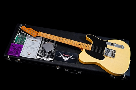 Fender Custom Shop '50s Stealth Esquire Masterbuilt John English Blonde 2006 Extra Rare 076 of 100