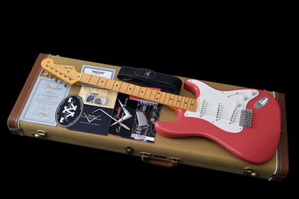 Fender Custom Shop Stratocaster 1957 Relic Lightweight Ash Fiesta NOS Red 2013 New
