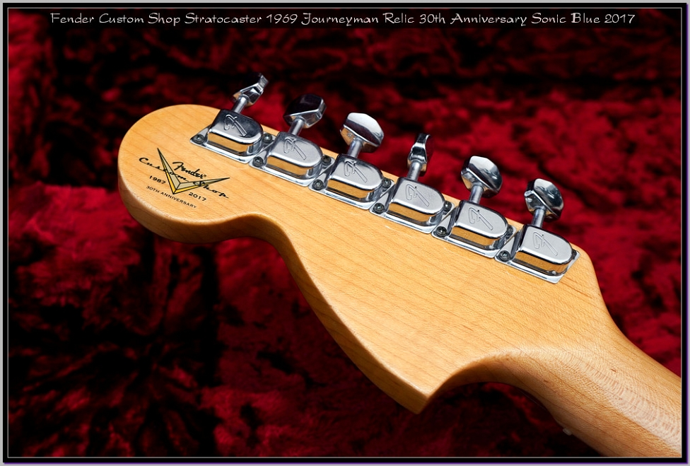 Fender Custom Shop Stratocaster 1969 Journeyman Relic 30th Anniversary Sonic Blue 2017