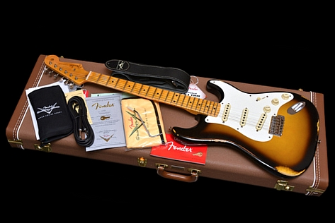 All Original Fender Custom Shop Stratocaster Relic 1957 Time Machine 2T Burst New 2015