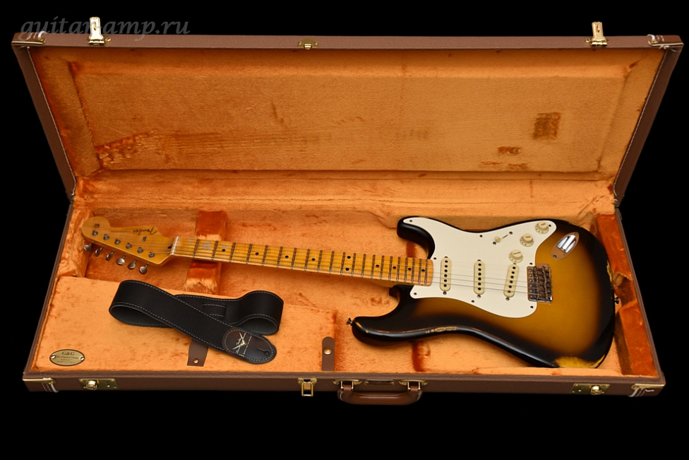 купить Fender Custom Shop Stratocaster Relic 1957 Time Machine 2T Burst 2015 New, Made in USA