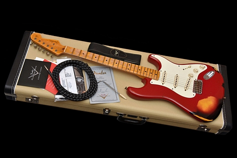 All Original Fender Custom Shop Stratocaster Relic 1958 Custom Order John Cruz Dakota over Sunburst 2012