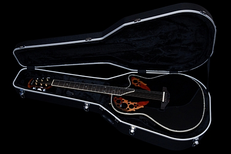 Ovation Custom Elite C2078AX Ebony Black OP Pro Studio Deep Bowl 2017