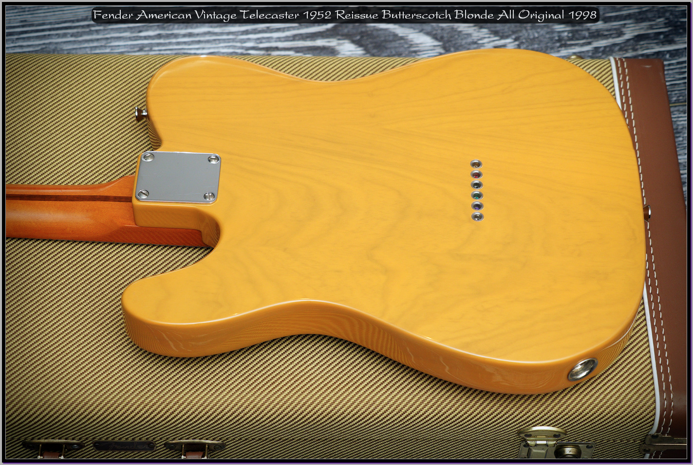 Fender American Vintage Telecaster 1952 Reissue Butterscotch Blonde All Original 1998 08_x1440.jpg