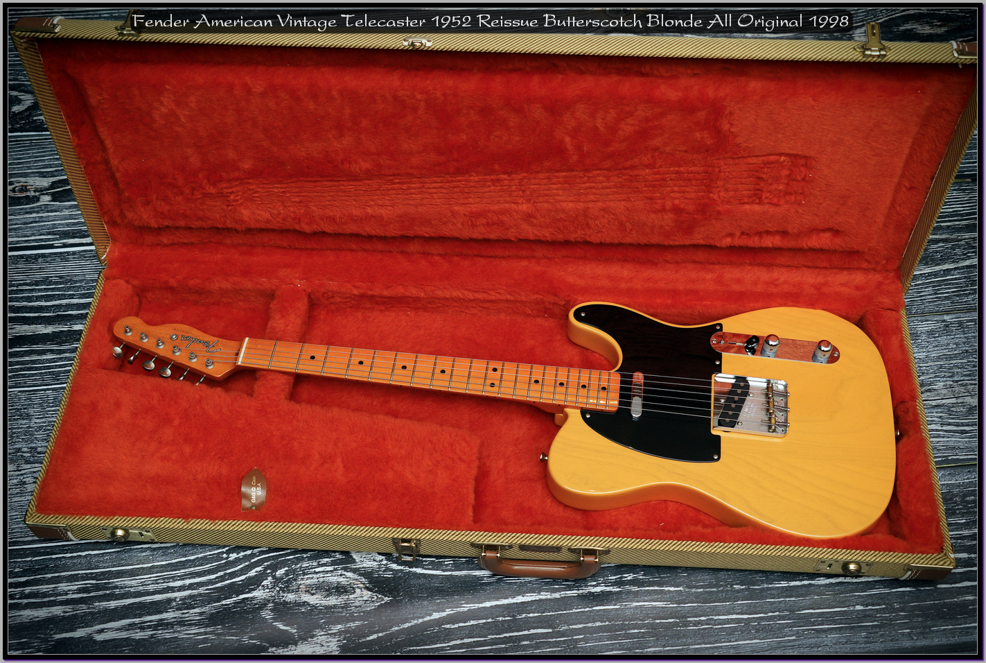 Fender American Vintage Telecaster 1952 Reissue Butterscotch Blonde All Original 1998 09_x1440.jpg