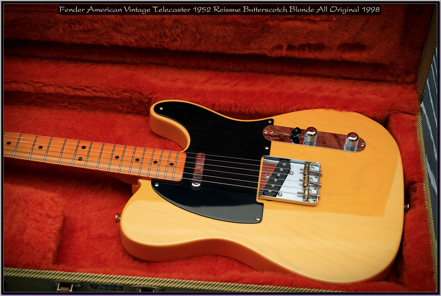 Fender American Vintage Telecaster 1952 Reissue Butterscotch Blonde All Original 1998 10_x1440.jpg